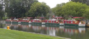 Canal Boats In Port